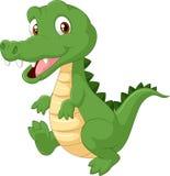 逗人喜爱的动画片鳄鱼 免版税库存照片
