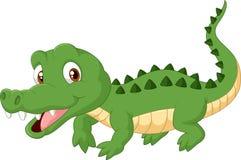 逗人喜爱的动画片鳄鱼 免版税库存图片
