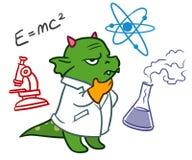 逗人喜爱的动画片龙妖怪科学家 免版税库存图片