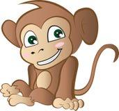 逗人喜爱的动画片猴子 免版税库存图片