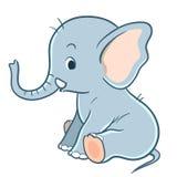 逗人喜爱的动画片婴孩大象 免版税图库摄影