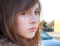 逗人喜爱的十几岁的女孩 图库摄影
