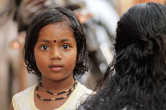 逗人喜爱的印地安女孩 库存图片