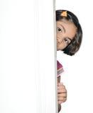 逗人喜爱的印第安女孩子项。 库存图片