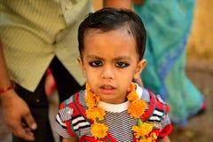 逗人喜爱的印第安男孩 免版税库存照片