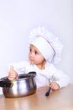 逗人喜爱的厨师一点 免版税库存照片