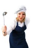 逗人喜爱的厨师 免版税库存照片