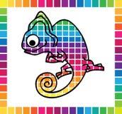 逗人喜爱的变色蜥蜴 免版税库存图片