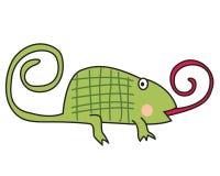逗人喜爱的变色蜥蜴 库存图片