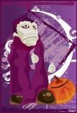 逗人喜爱的吸血鬼 免版税库存照片