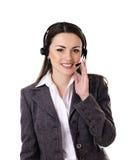 逗人喜爱的商业客户服务妇女 库存照片