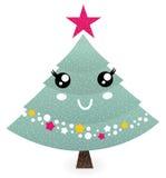 逗人喜爱的圣诞树字符 库存照片