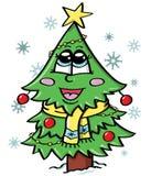 逗人喜爱的圣诞树 库存照片