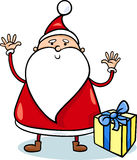逗人喜爱的圣诞老人动画片例证 库存图片