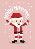 逗人喜爱的圣诞老人圣诞快乐传染媒介例证 免版税库存图片