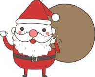 逗人喜爱的圣诞老人袋子 向量例证