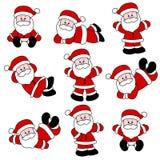 逗人喜爱的圣诞老人集 免版税库存照片