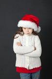 逗人喜爱的圣诞节女孩 免版税库存照片