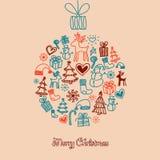 逗人喜爱的圣诞节球 免版税库存照片