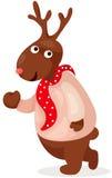 逗人喜爱的圣诞节驯鹿 免版税库存图片