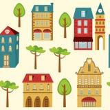 逗人喜爱的城市样式 免版税图库摄影
