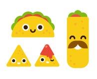 逗人喜爱的墨西哥食物 向量例证