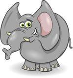 逗人喜爱的大象动画片例证 免版税库存图片