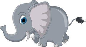 逗人喜爱的大象动画片 库存图片
