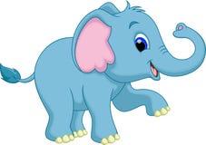 逗人喜爱的大象动画片 免版税库存图片