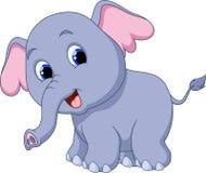 逗人喜爱的大象动画片 免版税库存照片