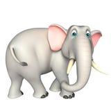 逗人喜爱的大象滑稽的漫画人物 免版税库存图片