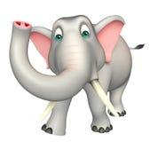 逗人喜爱的大象滑稽的漫画人物 库存照片