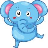 逗人喜爱的大象 库存例证