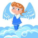 逗人喜爱的天使一点 免版税图库摄影