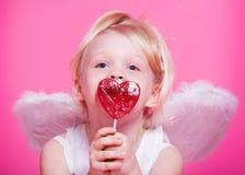 逗人喜爱的天使 免版税库存图片