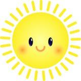 逗人喜爱的太阳 库存照片