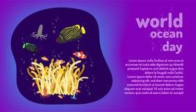 逗人喜爱的套nemo和秀丽鱼生活 海洋动物 世界海洋天 画五颜六色的设计样式的乱画手 ?? 库存例证