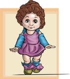 逗人喜爱的女婴例证 库存图片