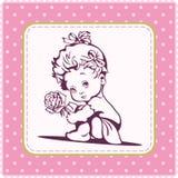 逗人喜爱的女婴例证 库存照片