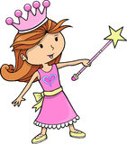 逗人喜爱的女孩公主向量 免版税库存图片
