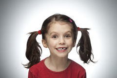 逗人喜爱的女孩准备好的学校 免版税图库摄影