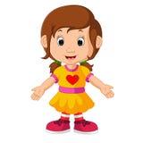 逗人喜爱的女孩动画片 皇族释放例证