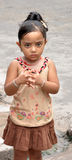 逗人喜爱的女孩印地安人 免版税图库摄影