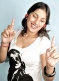 逗人喜爱的女孩印地安人 库存照片