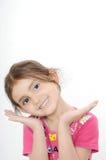 逗人喜爱的女孩印第安微笑 库存照片