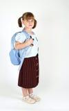逗人喜爱的女孩学校年轻人 库存图片
