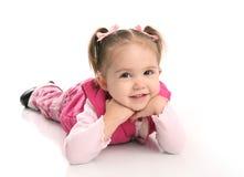 逗人喜爱的女孩小小孩 库存图片