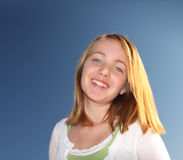 逗人喜爱的女孩年轻人 库存照片