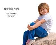逗人喜爱的女孩幼稚园 免版税库存照片