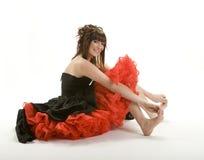 逗人喜爱的女孩正式舞会 免版税库存图片